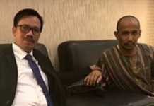 Duta Besar Indonesia untuk Arab Saudi, Agus Maftuh Abegebriel bersama Muhammad Zaini Misrin Arsyad (alm). (FOTO: Tribunnews)
