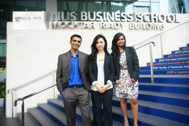 From left to right: Vivek Narayanan, Yuki Isono, Suchi Dey