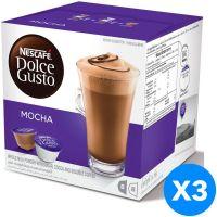 صندوق قهوة موكا تحتوي على الكافيين من نسكافيه كبسولات -شوكولاتة216 غم