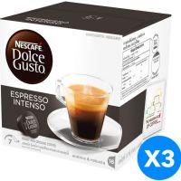 صندوق قهوة اسبرسو تحتوي على الكافيين من نسكافيه كبسولات -بدون نكهة128 غم