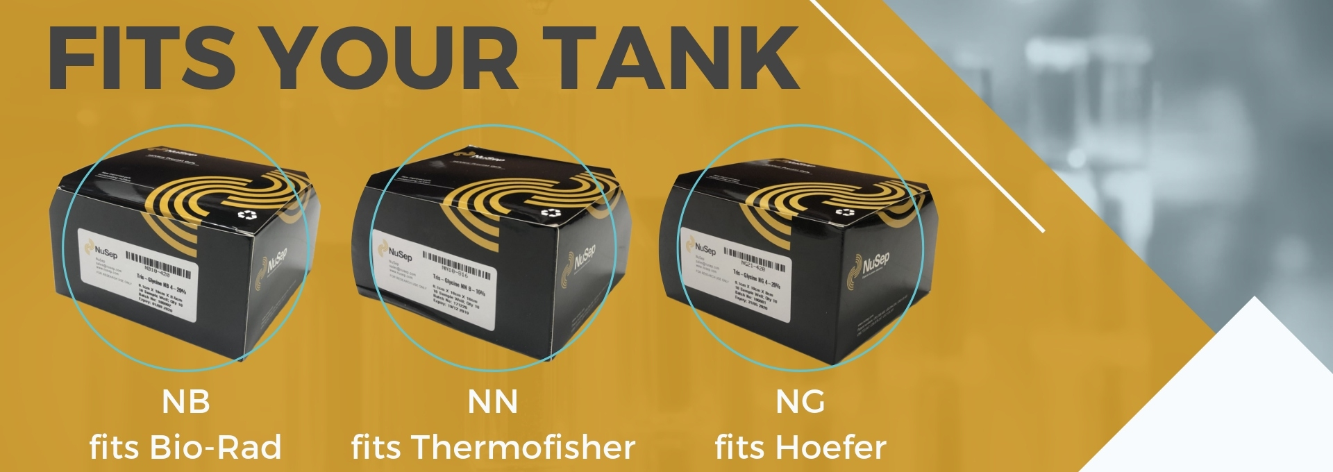 Precast Gel that fits your tank - NB, NG, NN