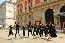 Jump shot with Mr Lim outside Musikverein! (Photo credits: Koh Swee Jin)
