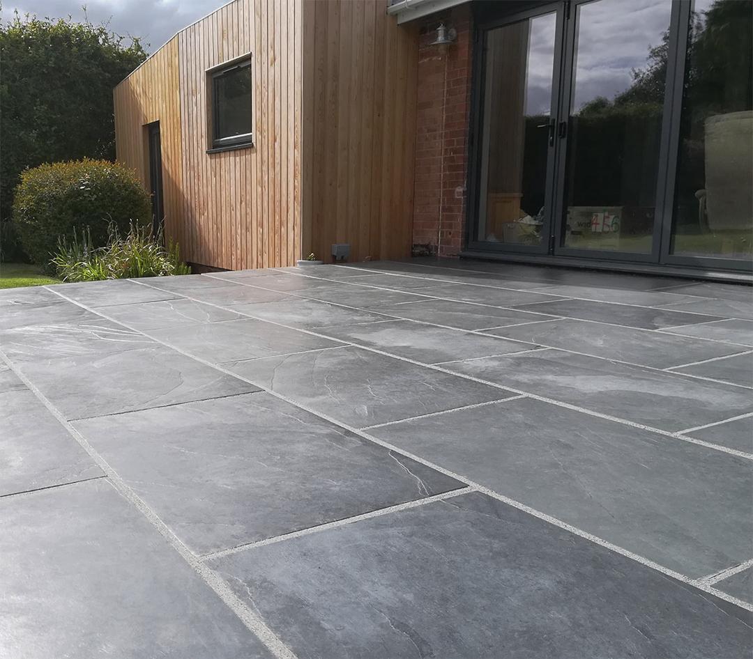 slate paving ideas garden design