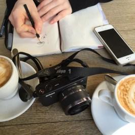 zeichnen im Café