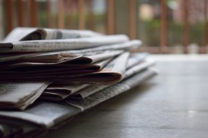 Photograph of a newspaper