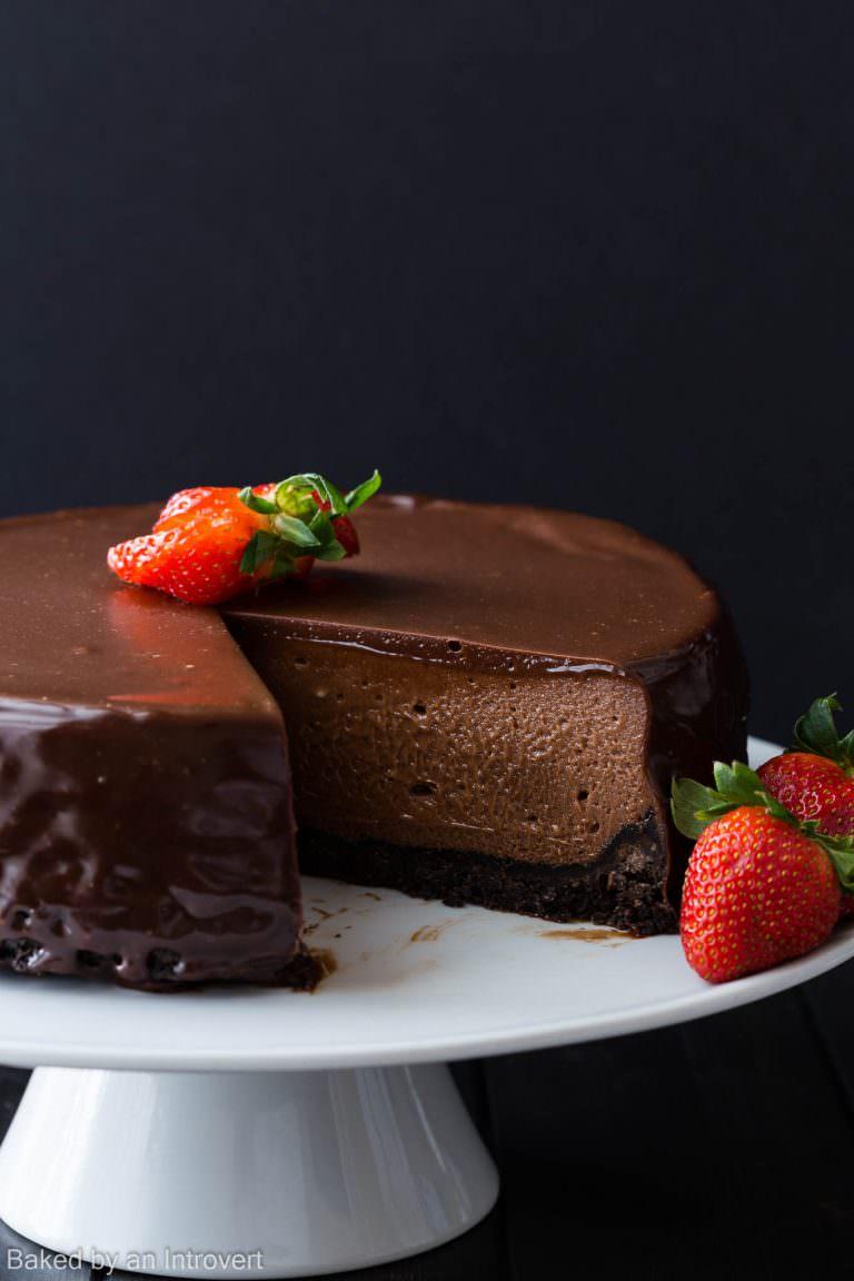 Nutella Cheesecake med underbar glasyr