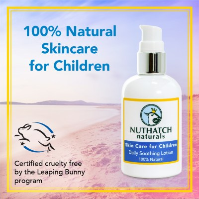 Nuthatch Naturals skin lotion for kids