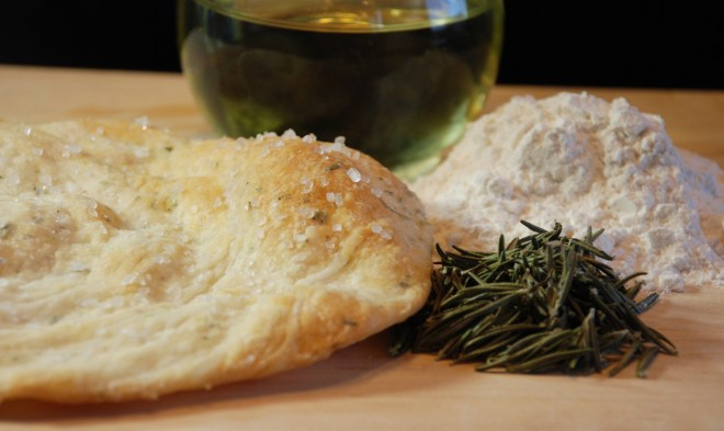 Crisy Rosemary Seasalt Flatbread
