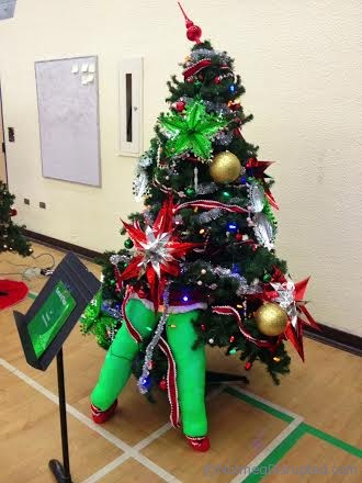Some of the trees at The Festival of Trees in Barrhead