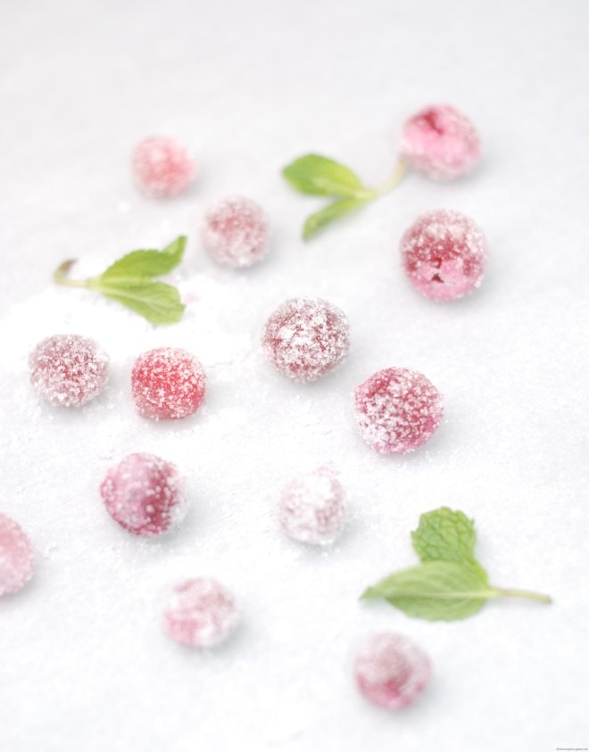 Sugared cranberries on Nutmeg Disrupted