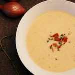 Creamed Bacon Lentil Soup