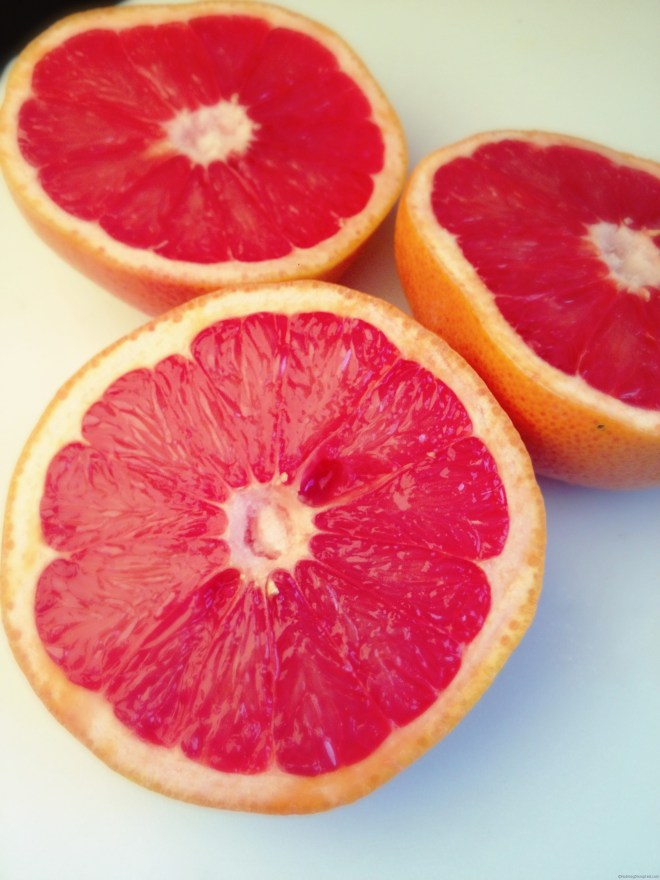 Ruby Red Grapefruit in the Nutmeg Disruoted kitchen