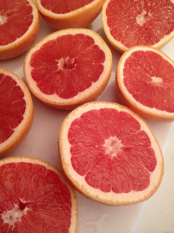 Ruby Red grapefruit for curd in Nutmeg Disrupted
