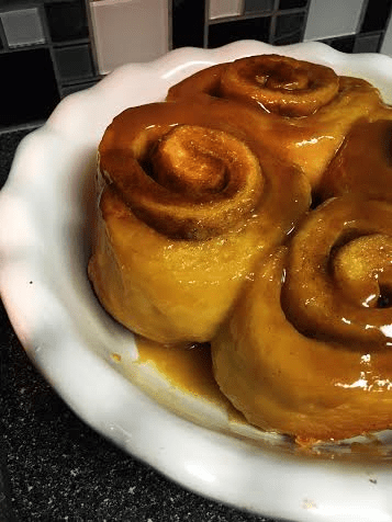 Fresh cinnamon buns on Nutmeg Disrupted