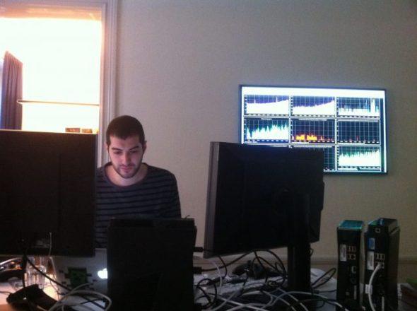 Daniel Kaplan hard at work