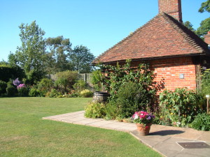 The garden at Chawton cottage