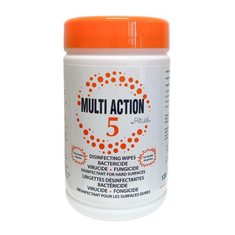 Multi Action 5 Disinfecting Wipes Nutra One