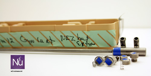 Nezhat set prior to be laser marked