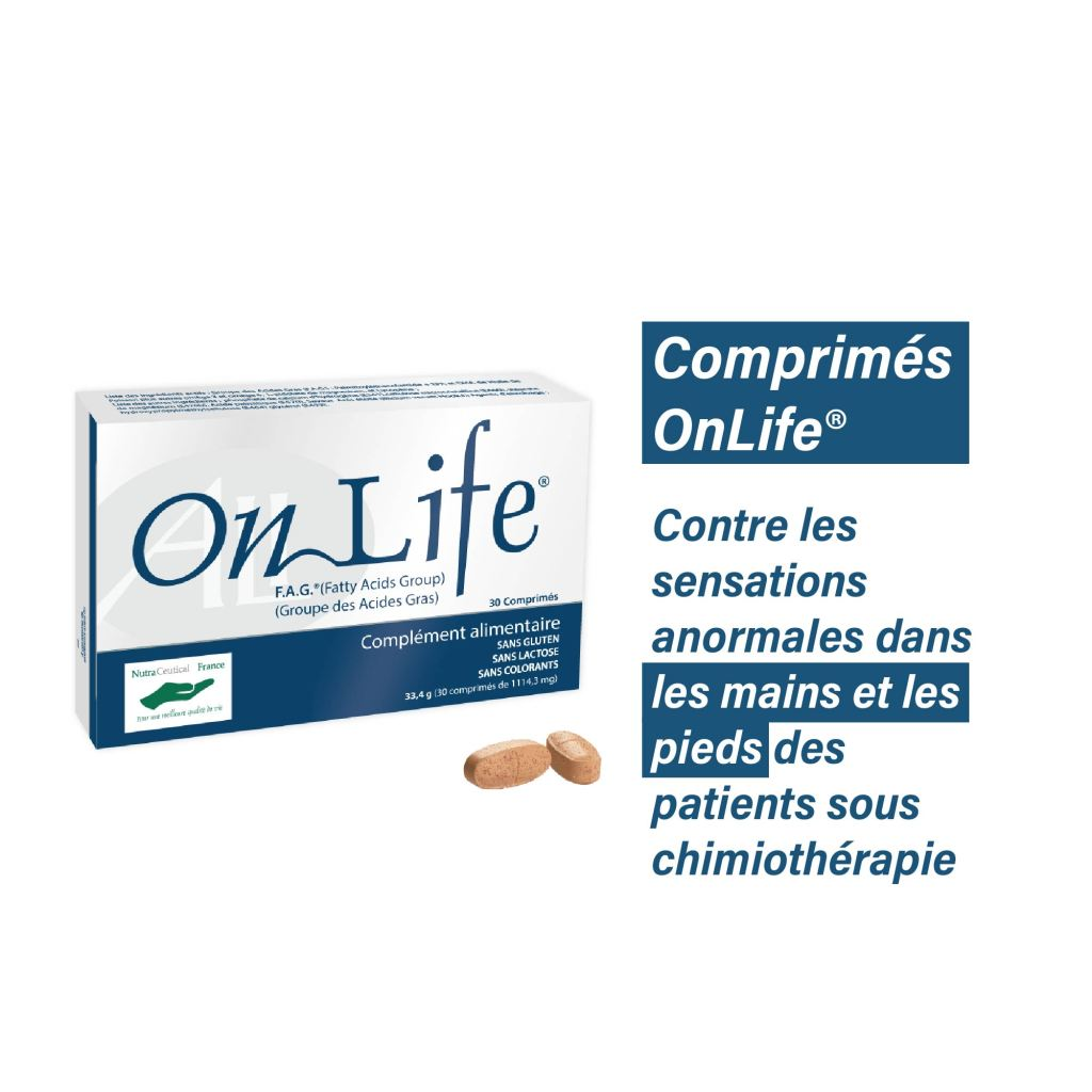 Comprimés OnLife® Contre la neuropathie périphérique induite par chimiothérapie 30 comprimés sécables