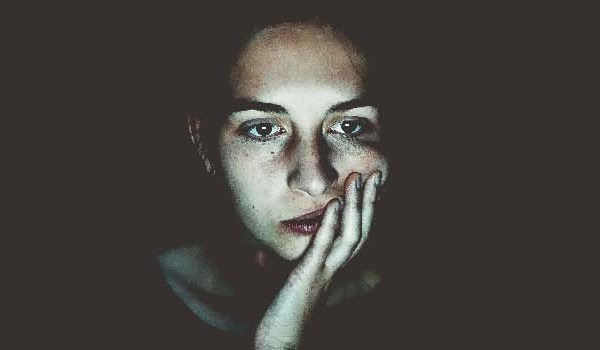 A woman in depression