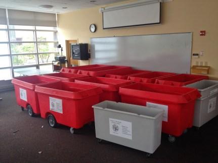 army of bins!