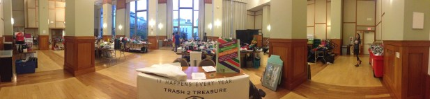 Panoramic view pre-sale of Curry Ballroom