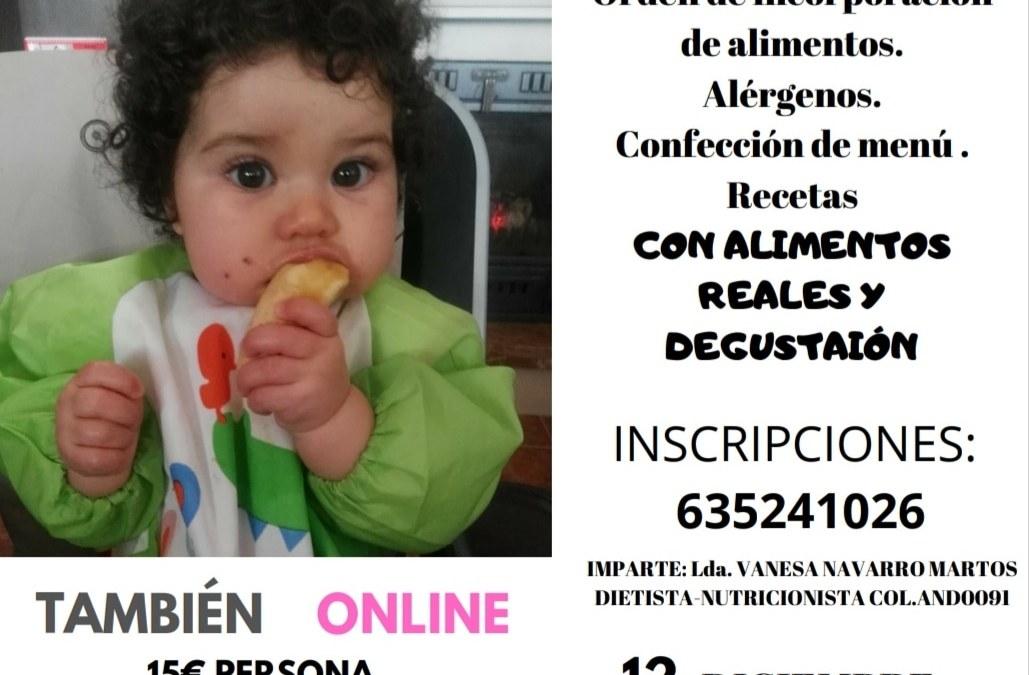 TALLER PRÁCTICO CONFECCIÓN MENÚS NIÑOS 0 a 36 meses PRESENCIAL EN CÓRDOBA Y ONLINE