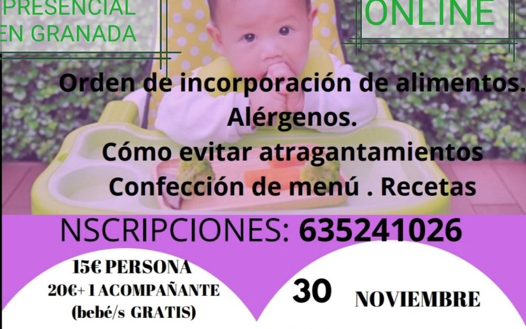 TALLER DE ALIMENTACIÓN DEL BEBÉ PRESENCIAL EN GRANADA Y ONLINE