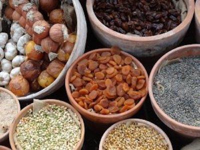 Fibres dans oléagineux et fruits secs