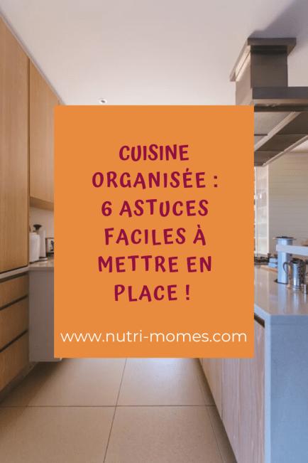 astuces pour une cuisine organisée