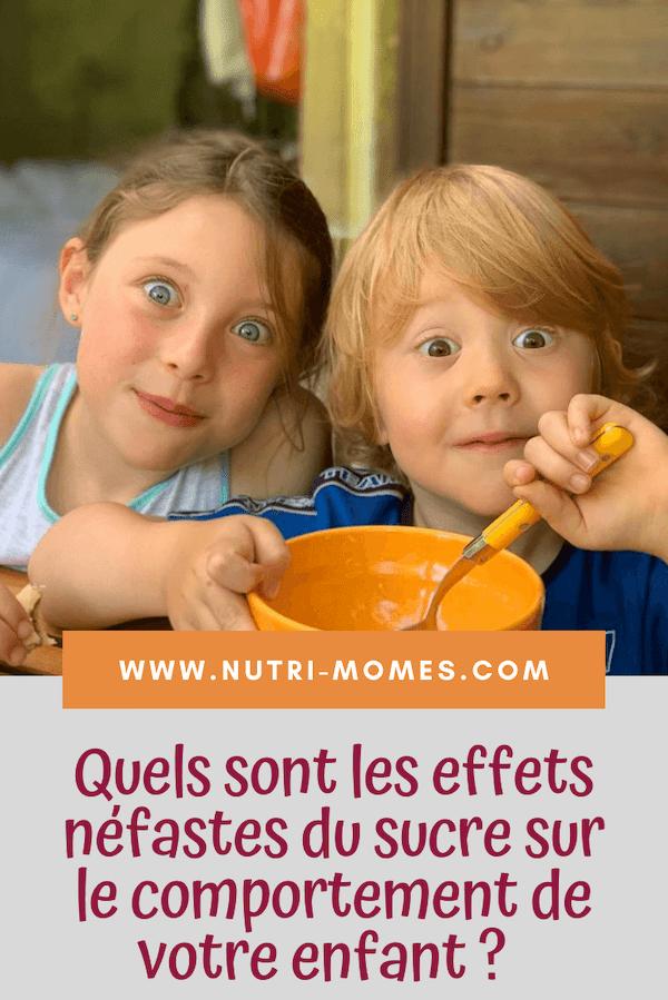 Effets néfastes du sucre sur le comportement des enfants