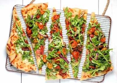 Pizza maison aux légumes pour enfant