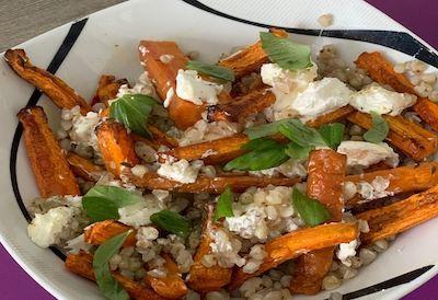 Recette de sarrasin aux carottes rôties
