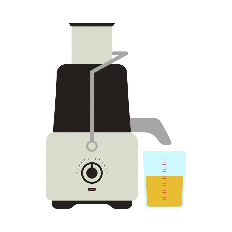 Vector illustration of a centrifugal juicer icon