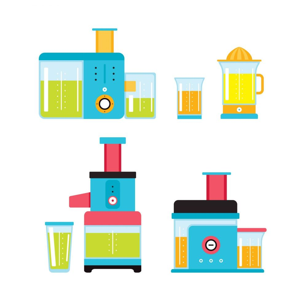 Vector of different juicers