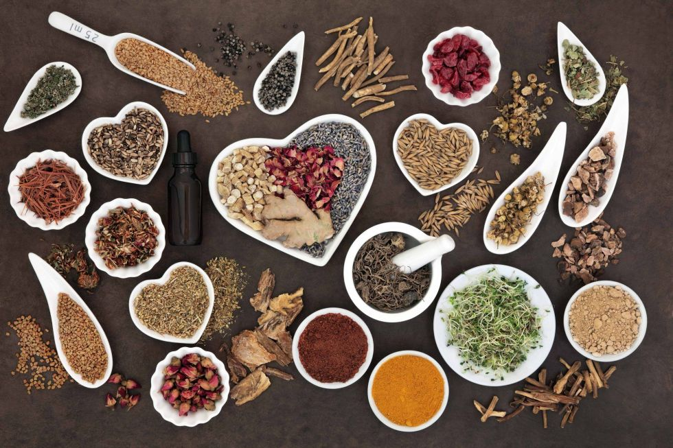 Herb selection used in female alternative herbal medicine