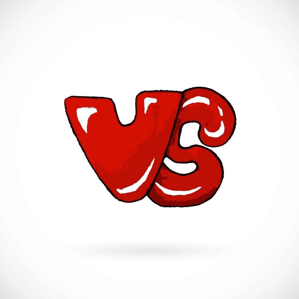 red versus vector