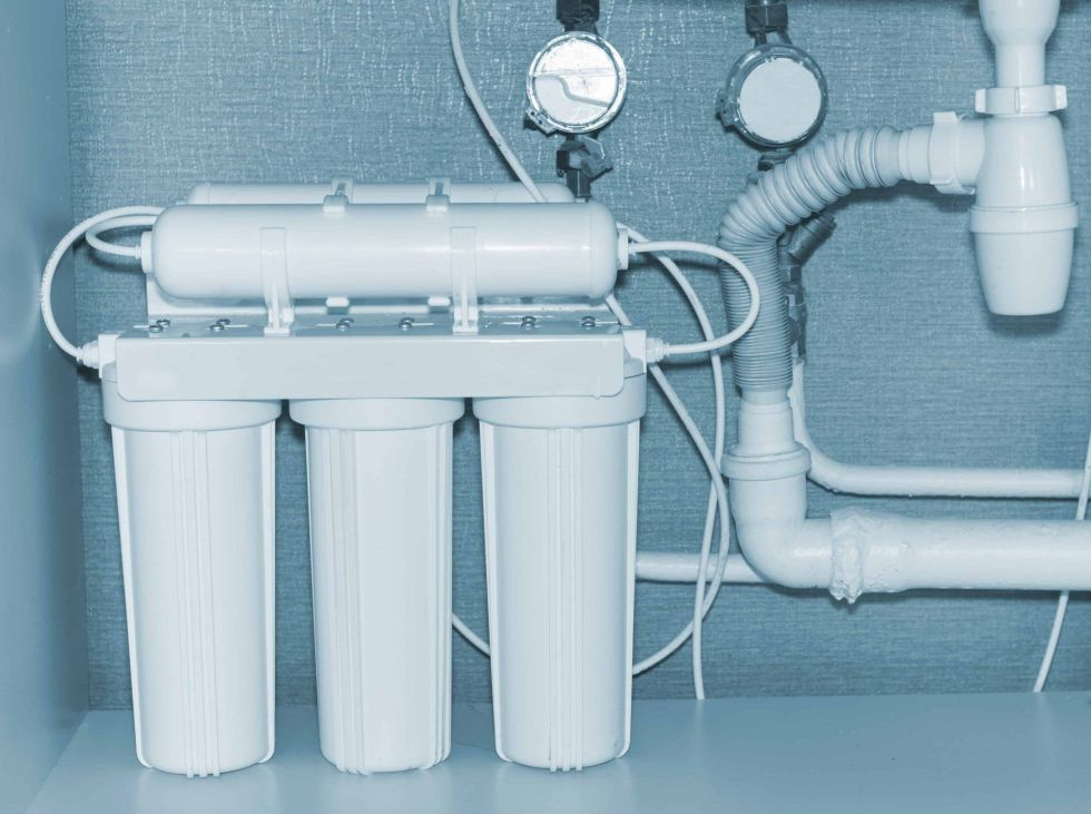 Reverse osmosis water purification system.