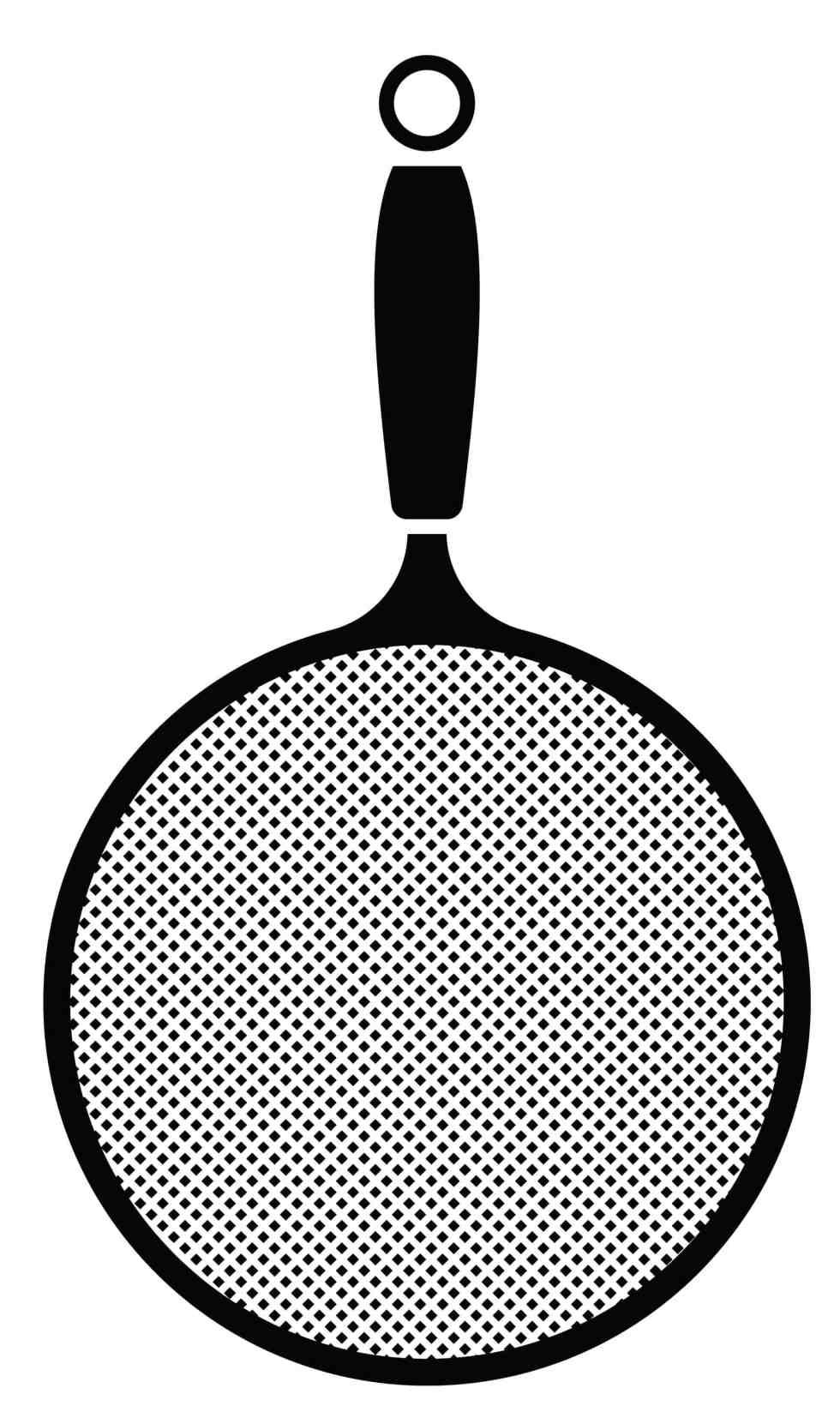 Fine mesh strainer icon