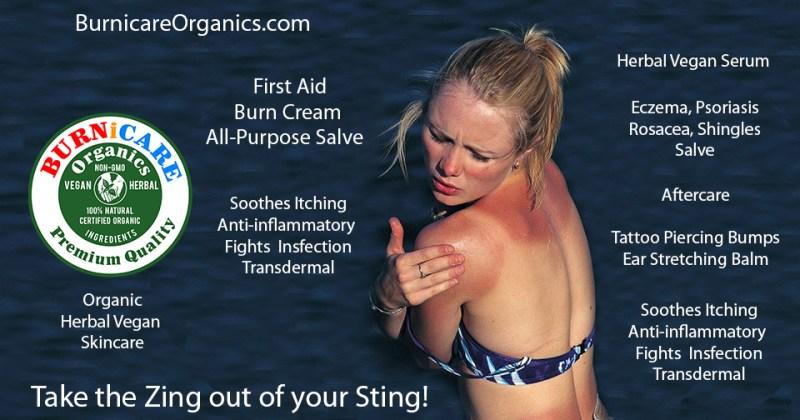 Burnicare Organics Gerbal Vegan Skincare