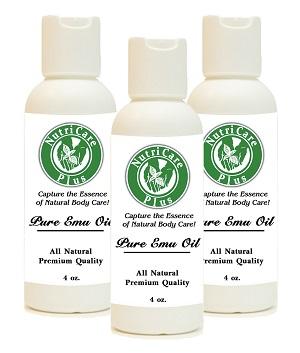 Three 4oz Emu Oil