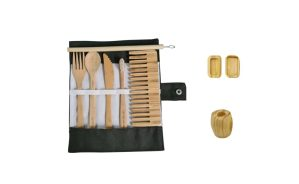 Bamboo Cutlery & Personal Care Travel Set
