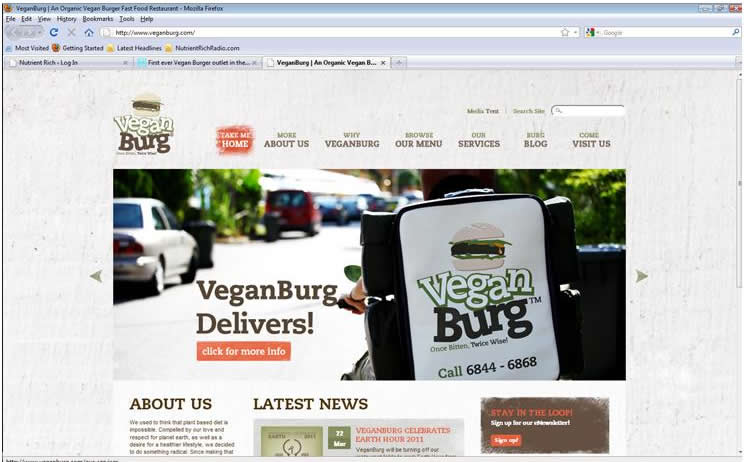 VeganBurg website