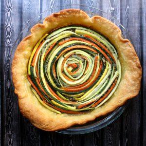 Summer Veggie Spiral Tart
