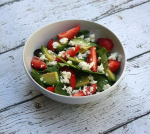 Simple Strawberry Avocado Salad