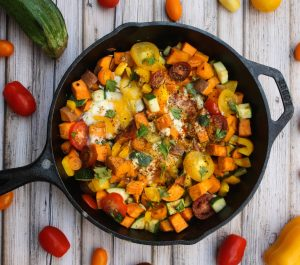 Rainbow Breakfast Skillet