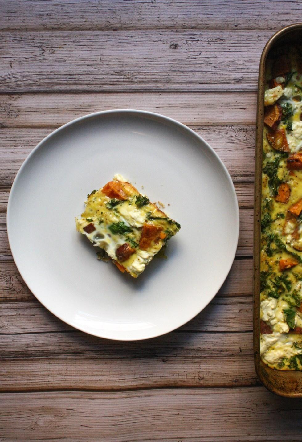 Kale Sweet Potato Breakfast Bake