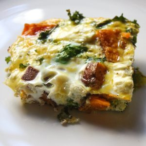 Kale Sweet Potato Breakfast Bake
