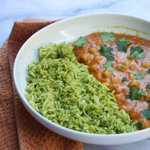 Chickpea Curry with Veggie Rice