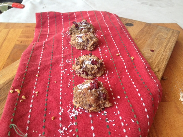 Cran sweetened GF cookies